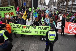 Action from another Extinction Rebellion roadblock elsewhere in the country.