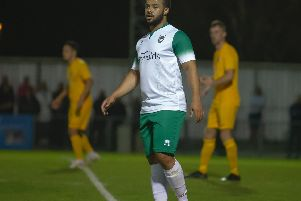 Tyrell Mitford marked his Bognor debut with the equaliser / Picture by Tommy McMillan