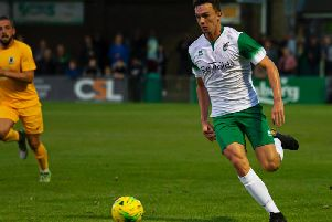 Dan Smith on the charge against Horsham / Picture by Tommy McMillan