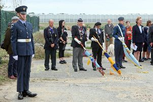 DM1982872a.jpg. Unveiling of memorial at Tangmere. Photo by Derek Martin Photography. SUS-190816-181722008