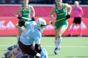 Ayeisha McFerran in action against Germany.'''WORLDSPORTPICS COPYRIGHT FRANK UIJLENBROEK