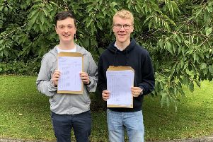 An incredible 10 A* grades: Rory and Isaac.