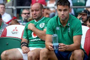 Ireland captain Rory Best with scrumhalf Conor Murray