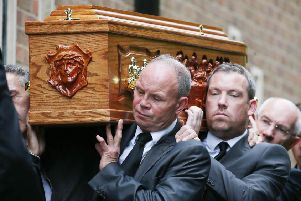 Funeral of former Cliftonville manager Tommy Breslin. Picture by Jonathan Porter/PressEye