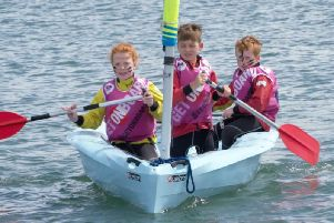 Youngsters enjoy the onboard festival