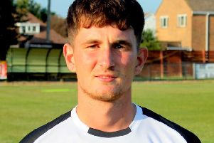 Jack Barnes scored a fine goal to put Pagham 2-1 up / Picture by Roger Smith