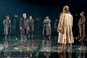 Macbeth on its glass stage - photo by Manuel Harlan