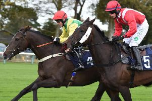 The James Todd Conditional Jockeys' Handicap Chase was won by Doing Fine / Picture by Connors for Fontwell Park