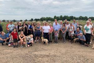 During the summer, Biggleswade residents, including families and dog walkers, gathered with Cllr Dr Hayley Whitaker on the proposed site to discuss the housing application