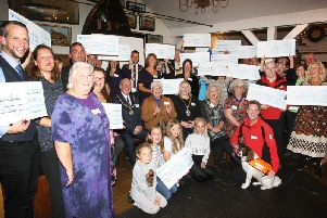 All of the Community Chest award winners at The Black Rabbit in Arundel