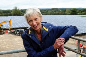 Louise Goldsmith at the official opening of the Tangmere solar farm back in 2015