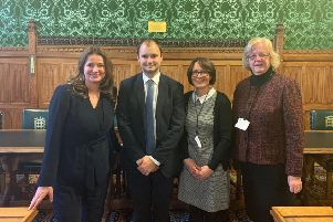 Chichester MP, Gillian Keegan; Minister for Local Government and Homelessness, Luke Hall; Diane Shepherd, Chief Executive of Chichester District Council; and Cllr Eileen Lintill, Leader of Chichester District Council
