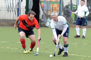 Andrew Savory in control against Trojans - he scored a hat-trick / Picture by Kate Shemilt