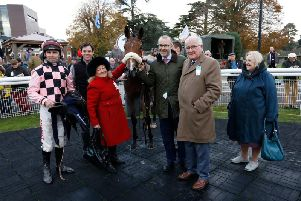 Sensulano and connections after a win at Fontwell Park / Pixture: Clive Bennett