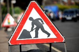 Roadworks sign