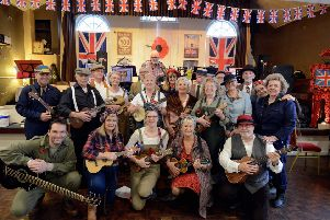 The Ems Valley Strummers who entertained visitors