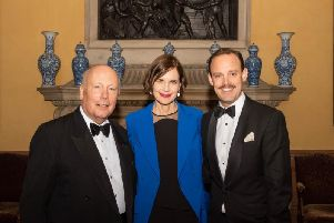 From left: Lord Fellowes, Elizabeth McGovern, and Harry Hadden-Paton.