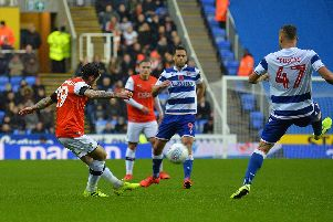 Jacob Butterfield switches the play against Reading on Saturday