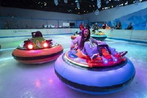 Ice rink for bumper cars