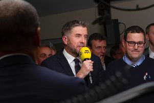 Mark Chapman presents coverage of the draw / Picture by Neil Holmes