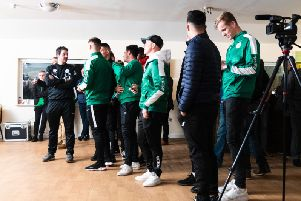 Chichester City's players and staff await Monday's FA Cup draw / Picture by Daniel Harker