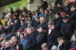 Crawley Town fans on Saturday