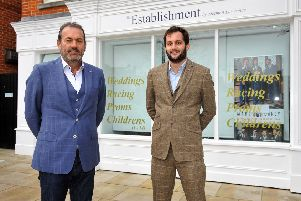 Stephen Lawrence opening a new store in Chichester. Seen here at his new shop his son Guy. Pic Steve Robards SR1111903 SUS-191121-172040001