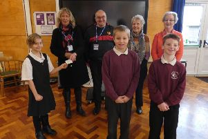 Binbrook Primary School donated half the money raised at their harvest festival to theBinbrook Senior Citizens Christmas Lunch Fund. Photo by Kate Collins EMN-191128-150514001