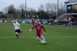 Alex Barbary scored against his former club in Horley's 2-1 win over Horsham YMCA. Picture by Spence Mitchell.