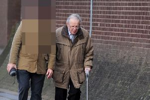 Vicar Meirion Griffiths, 81, was extradited from Australia to stand trial accused of sex offences at Portsmouth Crown Court.......Picture: (130120-3904)