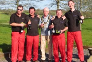 The Shankers team win Mayor of Thame's charity golf competition.