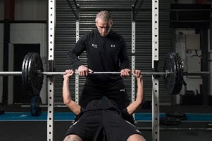 Personal trainer, Seamus Fox takes us through some simple but effective warm-up exercises at his FF Fitness Gym.