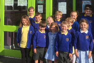 Pupils from Portrush Primary School get ready for the PTFA Summer Fair