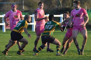 Olney wore a special pink kit for Ladies Dayt