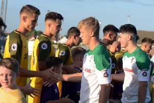 Bognor and Brighton U23s met at Nyewood Lane in July - they will meet again in the SSC semi-finals on March 5 / Picture by Kate Shemilt