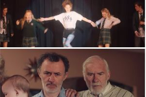Scenes from the Season 1 finale of Derry Girls.