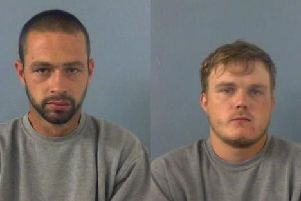 Tom East, aged 27, of no fixed abode, and Gary Woodwards, aged 25, of Middleton Road, Banbury. Photo: Thames Valley Police