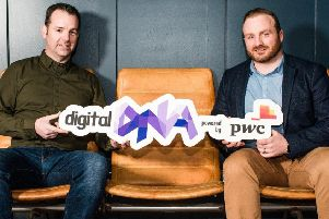 Seamus Cushley, director of new ventures at PwC, pictured with Digital DNA CEO Simon Bailey