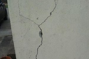 Pattern-cracking at a mica-affected home.