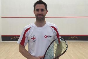 Ali Coker, Berkhamsted Tennis & Squash Club's captain and England over-35s player.