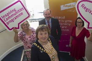 Mid & East Antrim Mayor, Cllr Maureen Morrow at the launch along with Audrey Murray, Ken Nelson and Rhonda Lynn.