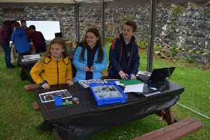 Pupils from Ballyhackett Primary School in Castlerock taking part in the 'Traills on Rails' workshops at Ballylough House in Bushmills.