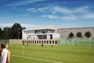 An artist's impression of the Royal Latin School's new sports campus