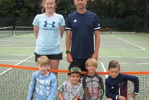 The line-up for the Chichester club's latest junior tournament