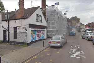 The white brick two storey building could be bulldozed soon.