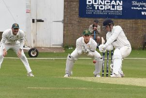 Charlie Roberts at the crease for Sleaford against title-chasing Woodhall Spa EMN-190209-113746002