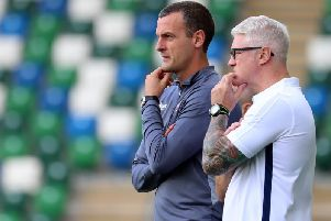 Oran Kearney with his assistant Winkie Murphy