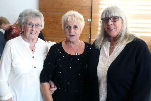 Mary Kerr, Oonagh Calvin and Anne McCrellis pictured at a civic reception for members of Ballymoney Evergreen Club in Cloonavin recently