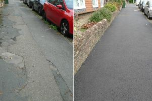 Harlands Road in Haywards Heath is among a number of pavements that have been improved. Picture: West Sussex County Council