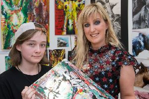 Emma Dickson, who has been nominated for the CCS Creative Tutor of the Year award, pictured with Lauren McConachie.  (Picture Martin McKeown).